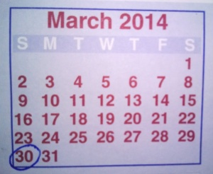 Mar 2014 Deadline
